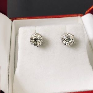 Natural Diamond Stud Earrings